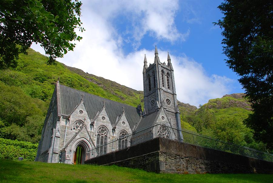 Kylemore Photograph - Gothic Church by Charlie and Norma Brock
