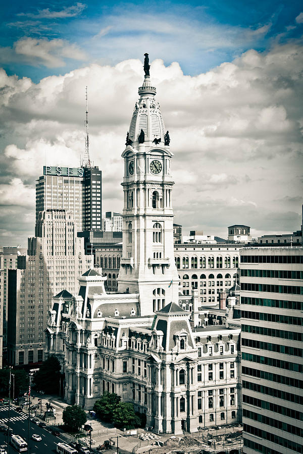 Philadelphia Photograph - Gothic City Hall by Stacey Granger