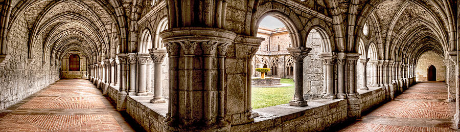 Cloister Photograph - Gothic Cloister Walkways by Weston Westmoreland