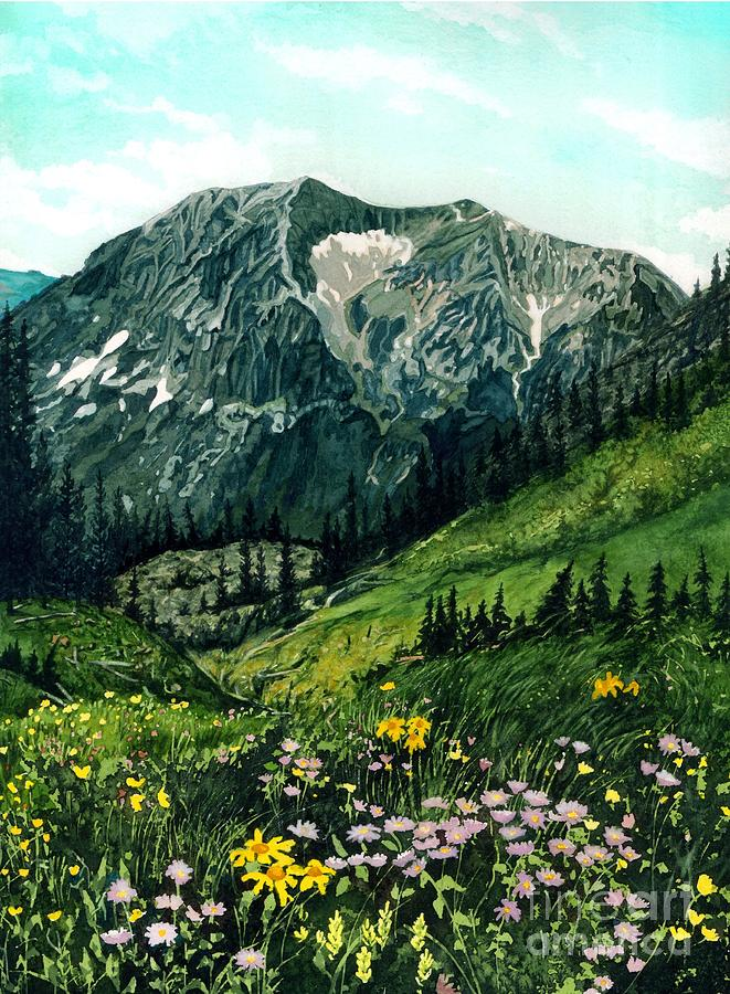 Mountain Landscape Painting - Gothic Grandeur by Barbara Jewell