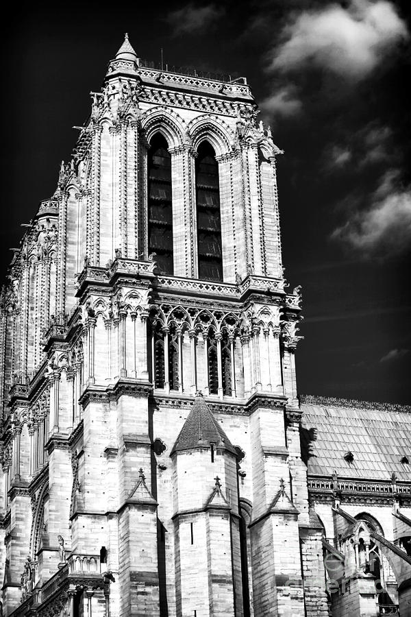 Clouds Photograph - Gothic Notre Dame by John Rizzuto
