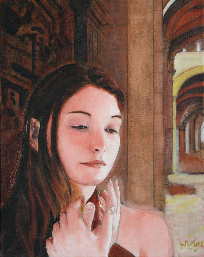 Divine Feminine Painting - Gothic Souk by Jean-Paul Setlak
