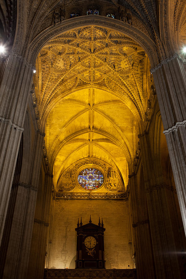 Seville Photograph - Gothic Vault Of The Seville Cathedral by Artur Bogacki