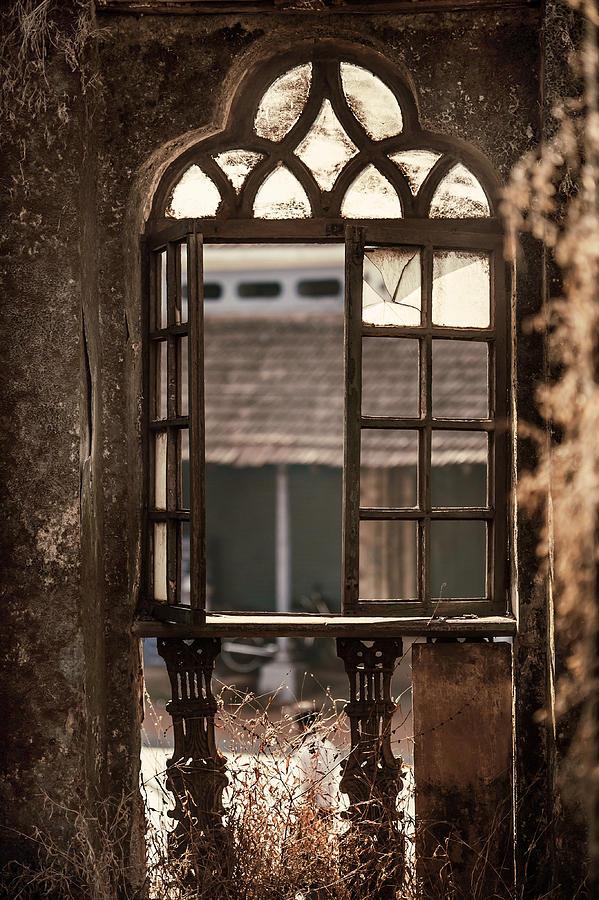 Gothic Window Old Portuguese House Goa India Photograph By Jenny
