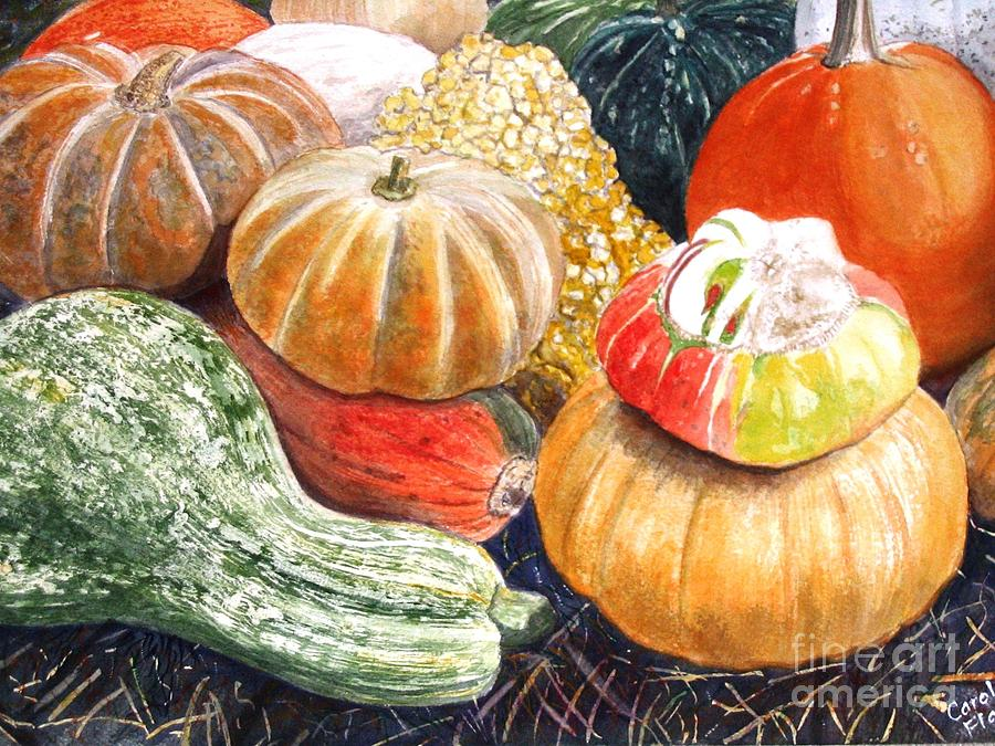 Gourds Painting - Gourds by Carol Flagg