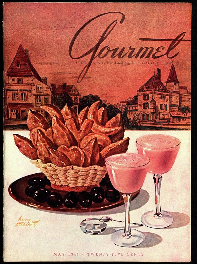 Gourmet Cover Featuring A Basket Of Potato Curls Photograph by Henry Stahlhut