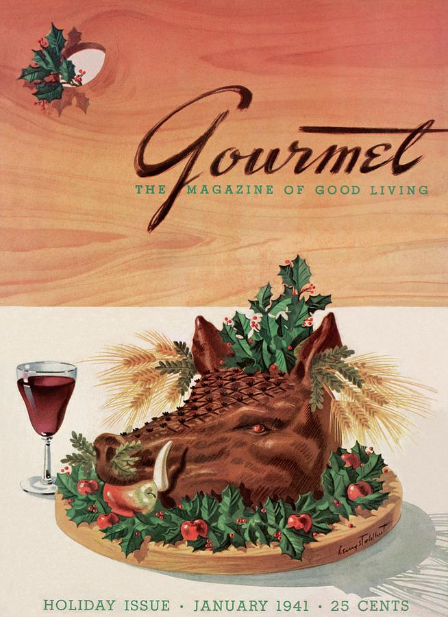 Gourmet Cover Featuring A Boars Head Photograph by Henry Stahlhut