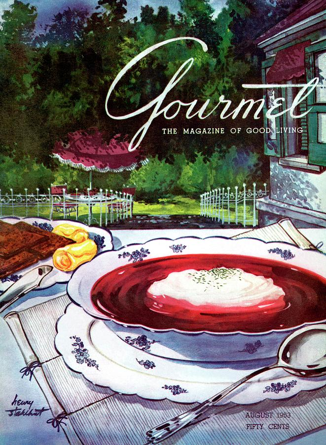 Gourmet Cover Featuring A Bowl Of Borsch Photograph by Henry Stahlhut
