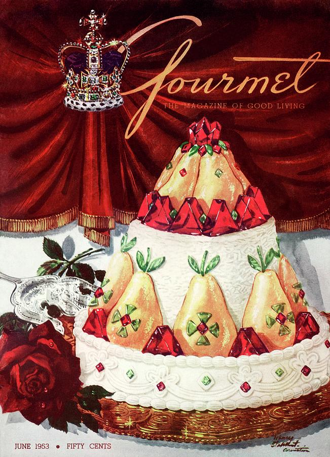 Gourmet Cover Featuring A Cake Photograph by Henry Stahlhut