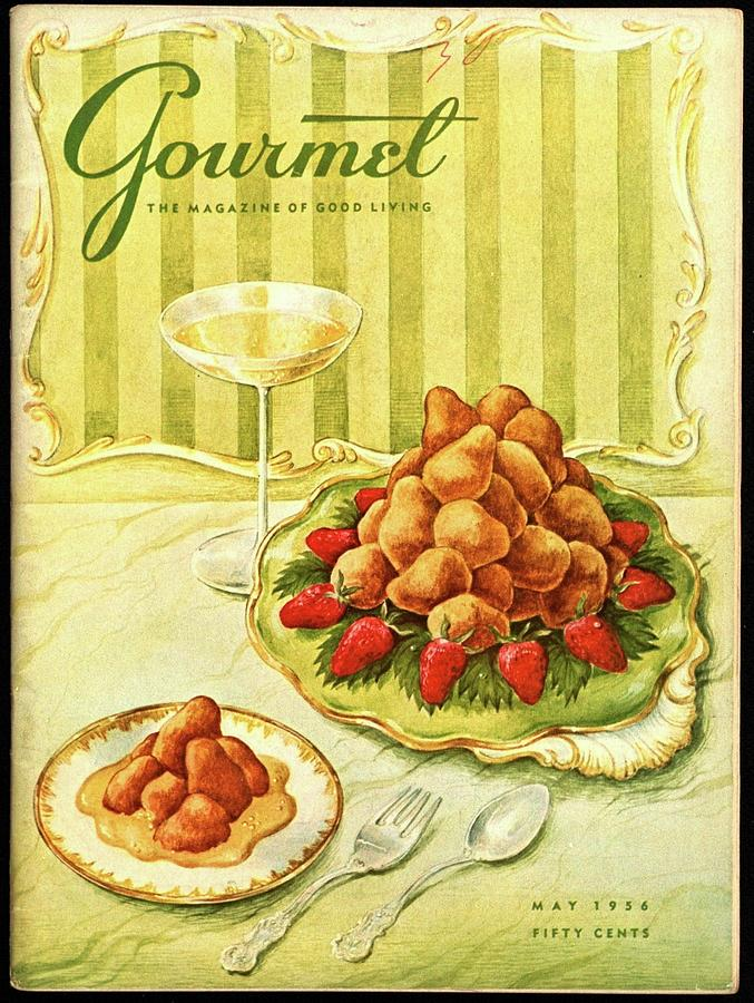 Gourmet Cover Featuring A Plate Of Beignets Photograph by Hilary Knight