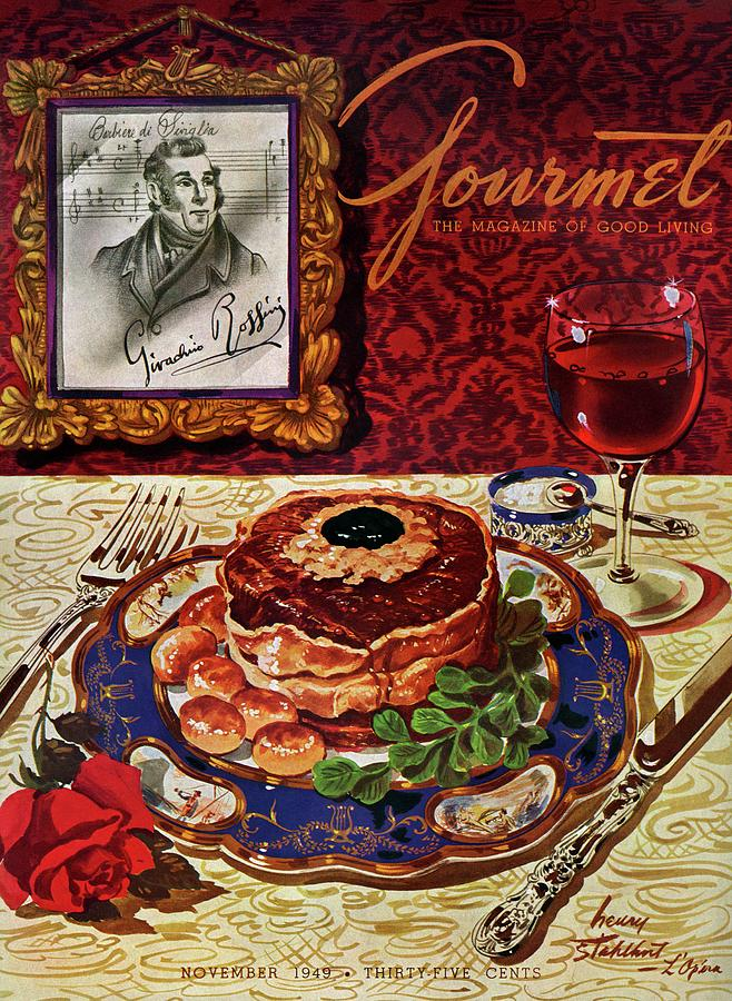 Gourmet Cover Featuring A Plate Of Tournedos Photograph by Henry Stahlhut