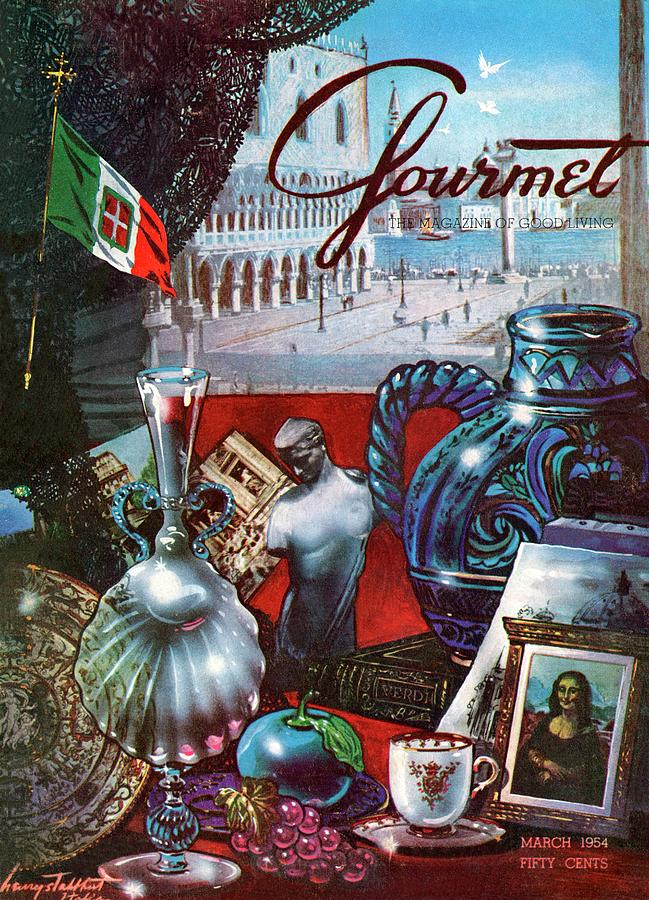 Gourmet Cover Featuring A Variety Of Italian Photograph by Henry Stahlhut