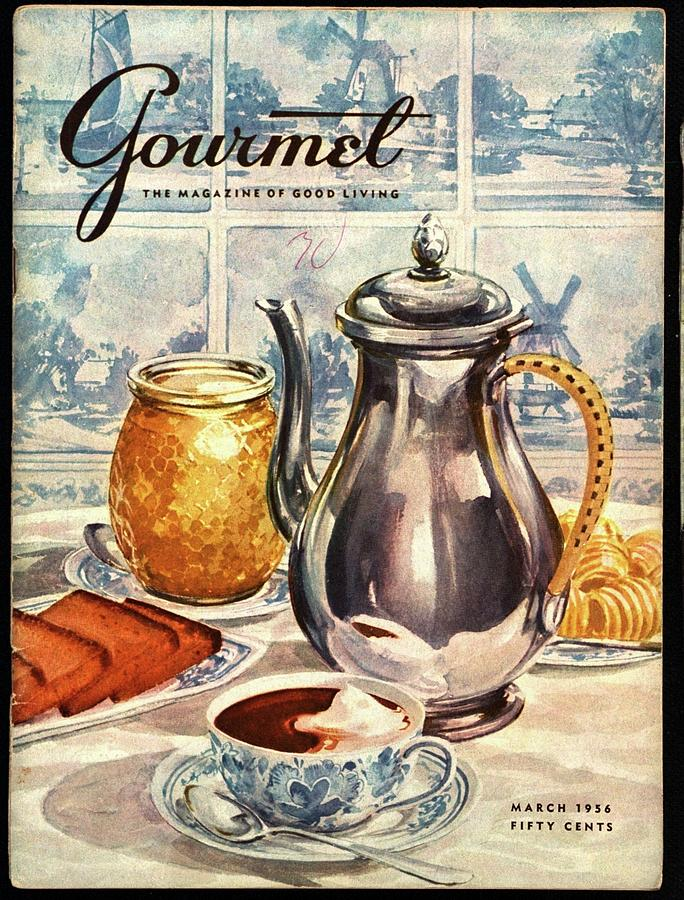 Gourmet Cover Featuring An Illustration Photograph by Hilary Knight