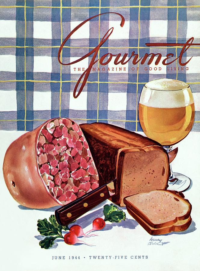 Gourmet Cover Featuring Bread Photograph by Henry Stahlhut