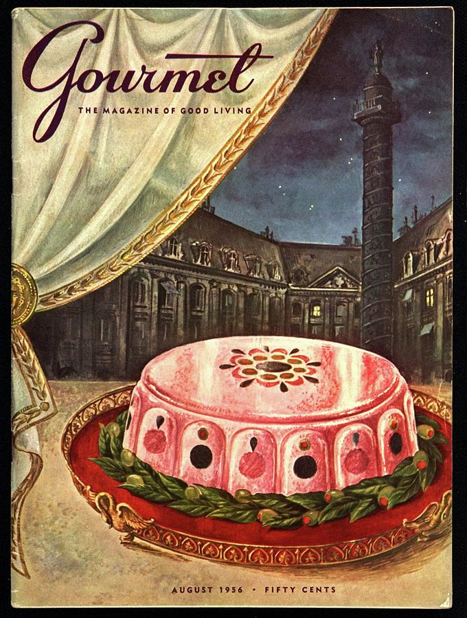 Gourmet Cover Featuring Ham Mousse Photograph by Hilary Knight