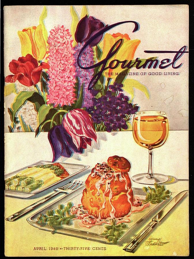 Gourmet Cover Featuring Sweetbread And Asparagus Photograph by Henry Stahlhut