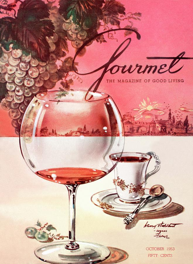 Gourmet Cover Illustration Of A Baccarat Balloon Photograph by Henry Stahlhut