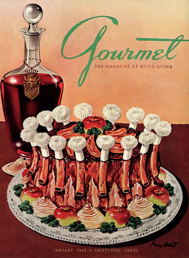 Gourmet Cover Illustration Of A Crown Roast Photograph by Henry Stahlhut