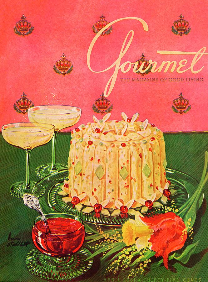 Gourmet Cover Illustration Of A Molded Rice Photograph by Henry Stahlhut