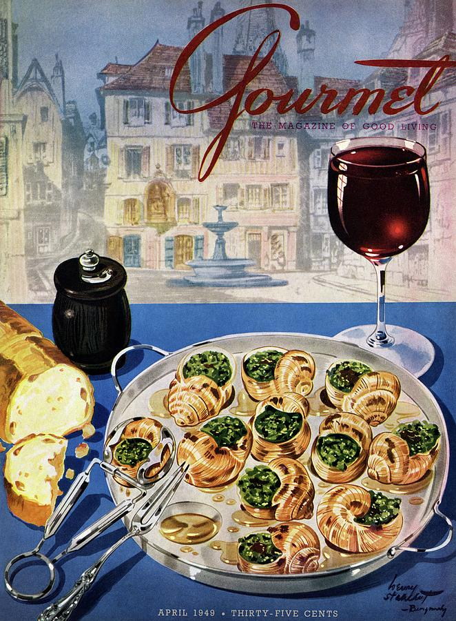 Gourmet Cover Illustration Of A Platter Photograph by Henry Stahlhut