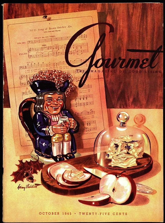 Gourmet Cover Illustration Of A Tray Of Cheese Photograph by Henry Stahlhut