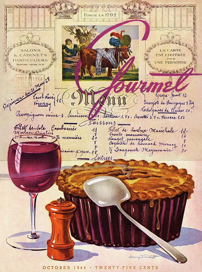 Gourmet Cover Illustration Of Deep Dish Pie Photograph by Henry Stahlhut
