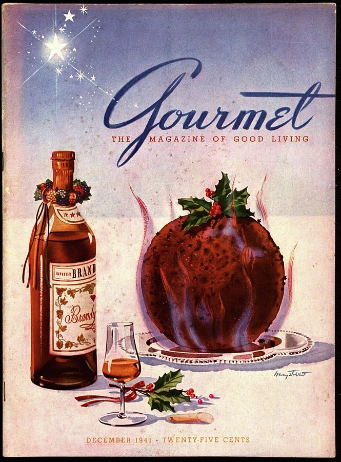 Gourmet Cover Illustration Of Flaming Chocolate Photograph by Henry Stahlhut