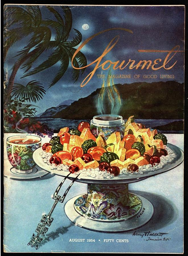 Gourmet Cover Illustration Of Fruit Dish Photograph by Henry Stahlhut