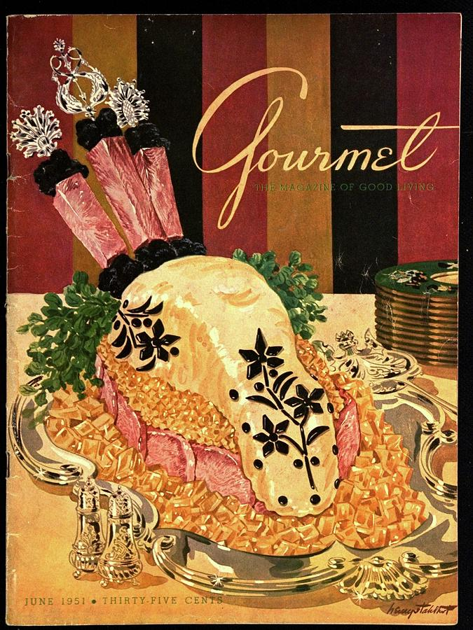 Gourmet Cover Illustration Of Langue De Boeuf Photograph by Henry Stahlhut