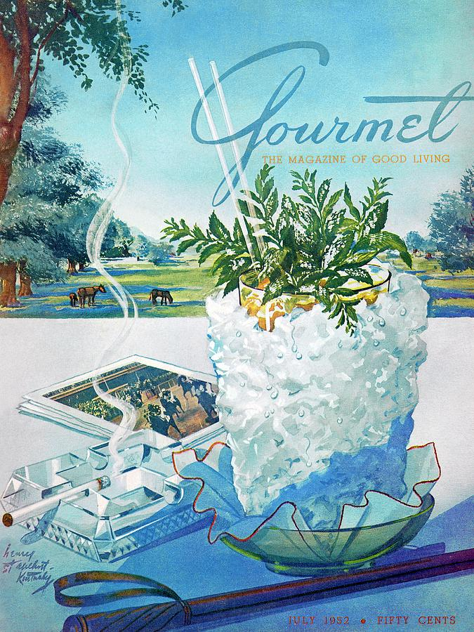 Gourmet Cover Illustration Of Mint Julep Packed Photograph by Henry Stahlhut