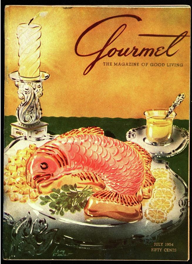 Gourmet Cover Illustration Of Salmon Mousse Photograph by Henry Stahlhut