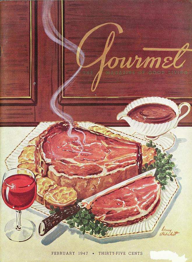 Gourmet Cover Of A Roast Beef Photograph by Henry Stahlhut