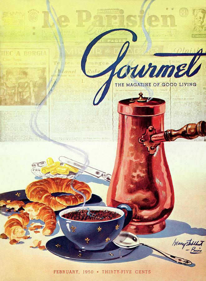 Gourmet Cover Of A French Breakfast Photograph by Henry Stahlhut