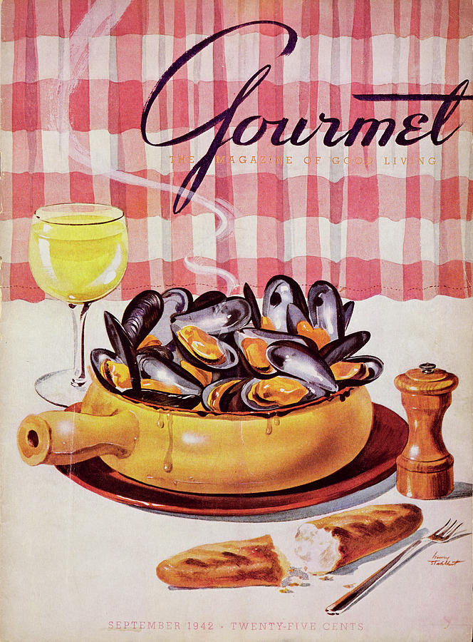 Gourmet Cover Of A Mussel Pot Photograph by Henry Stahlhut