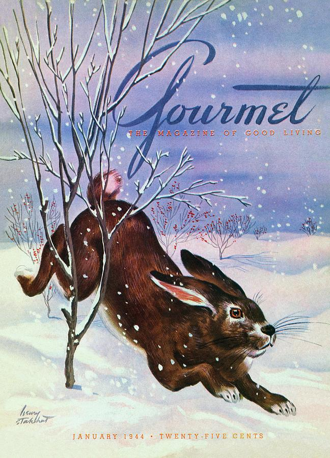 Gourmet Cover Of A Rabbit On Snow Photograph by Henry Stahlhut