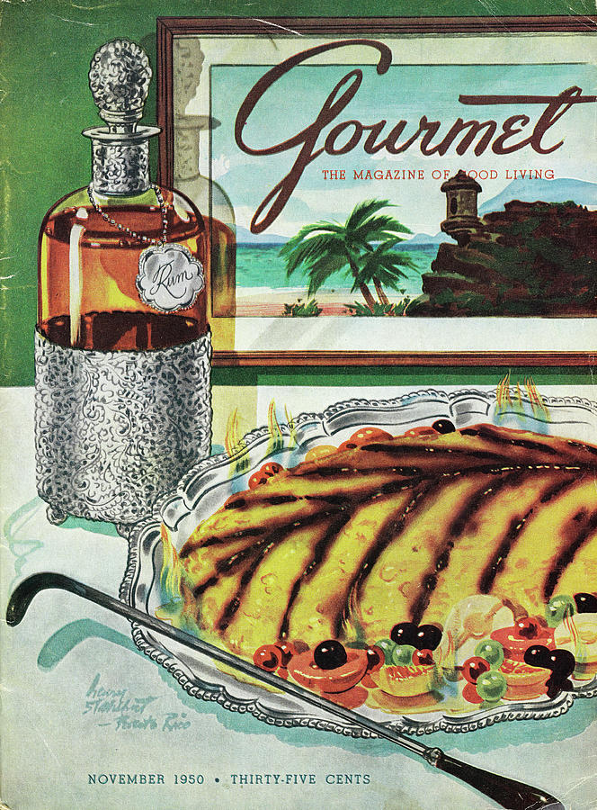 Gourmet Cover Of An Omelette Au Ruhm Photograph by Henry Stahlhut