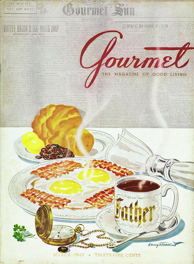 Gourmet Cover Of Breakfast Photograph by Henry Stahlhut