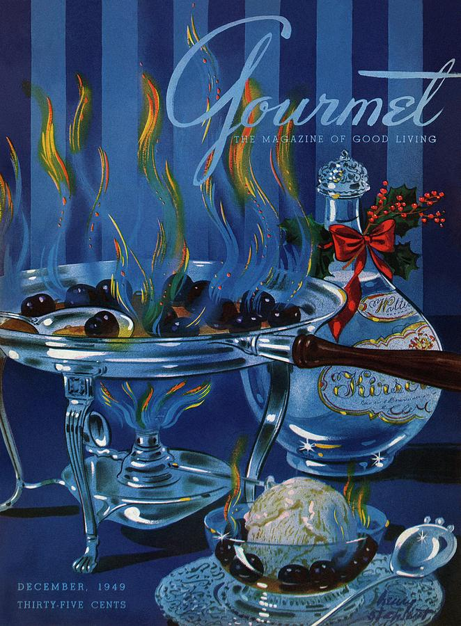Gourmet Cover Of Cherry Flambe Photograph by Henry Stahlhut