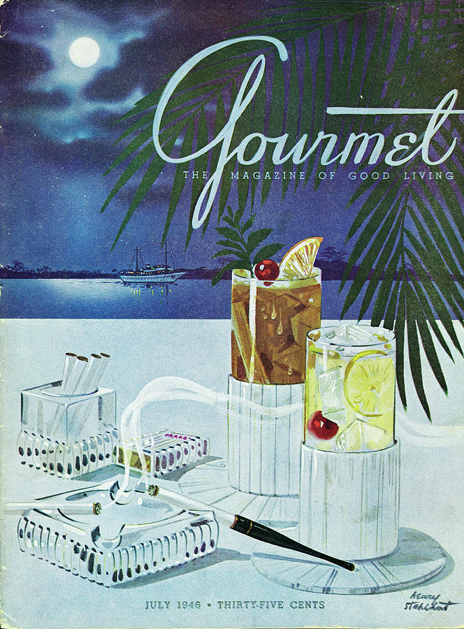 Gourmet Cover Of Cocktails Photograph by Henry Stahlhut
