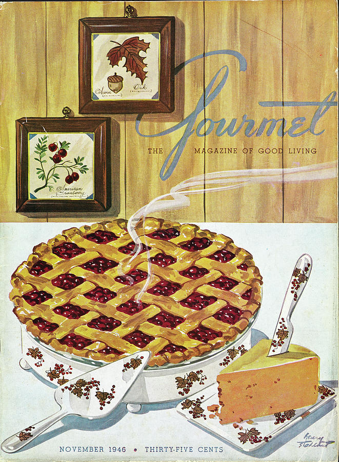 Gourmet Cover Of Cranberry Pie Photograph by Henry Stahlhut