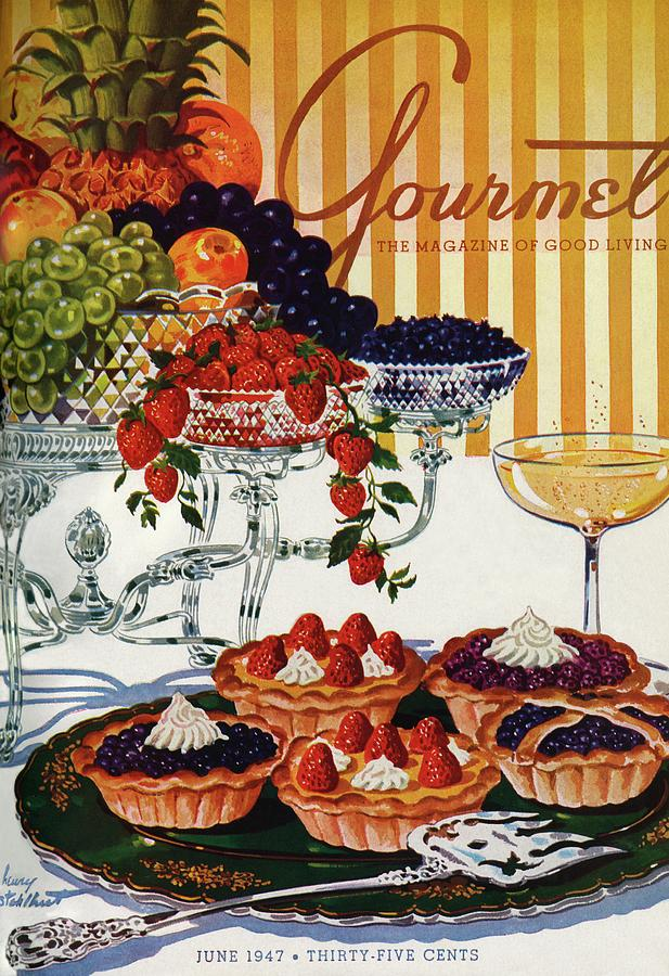Gourmet Cover Of Fruit Tarts Photograph by Henry Stahlhut