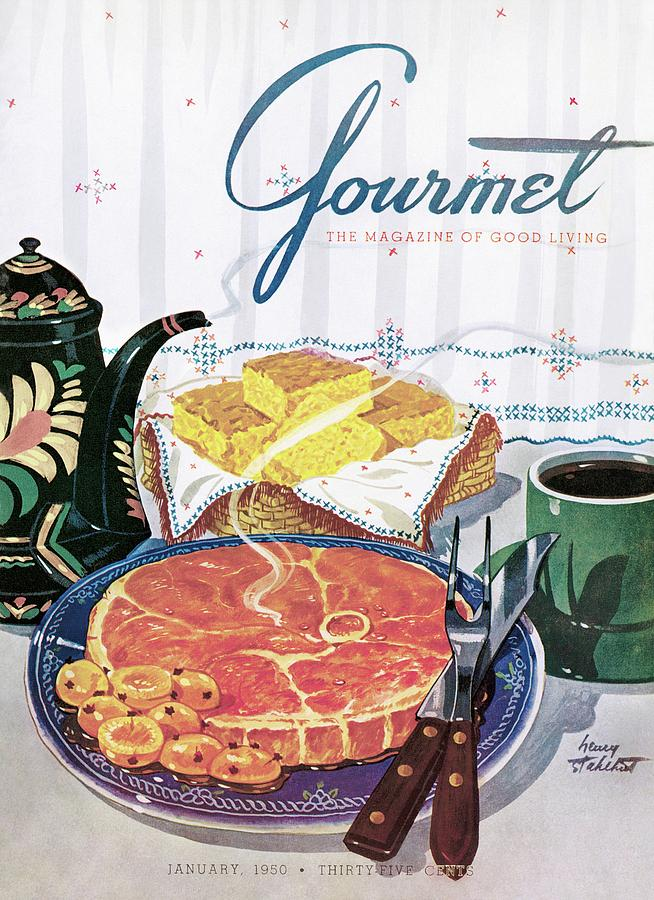 Gourmet Cover Of Ham And Cornbread Photograph by Henry Stahlhut