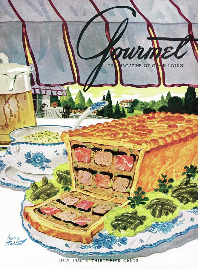 Gourmet Cover Of Pate En Croute Froid Photograph by Henry Stahlhut