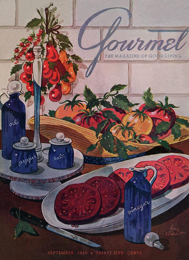 Gourmet Cover Of Tomatoes And Seasoning Photograph by Henry Stahlhut