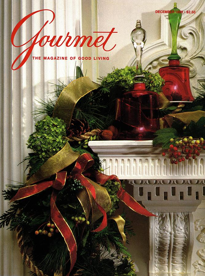 Gourmet Magazine Cover Featuring Christmas Garland Photograph by Romulo Yanes