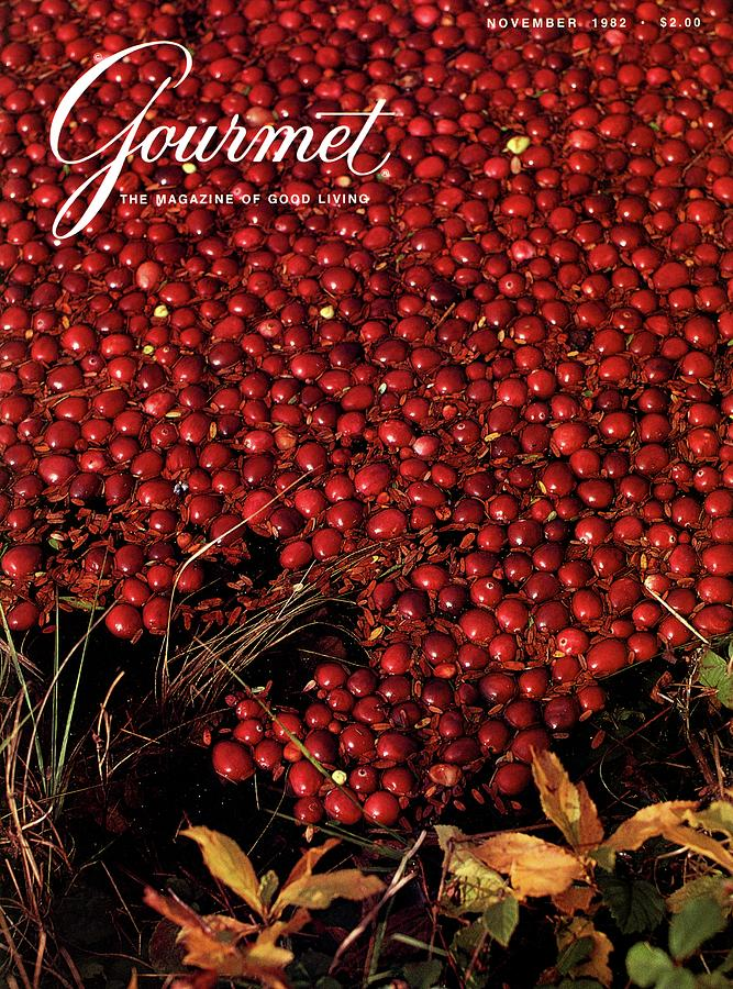 Gourmet Magazine Cover Featuring Cranberries Photograph by Lans Christensen