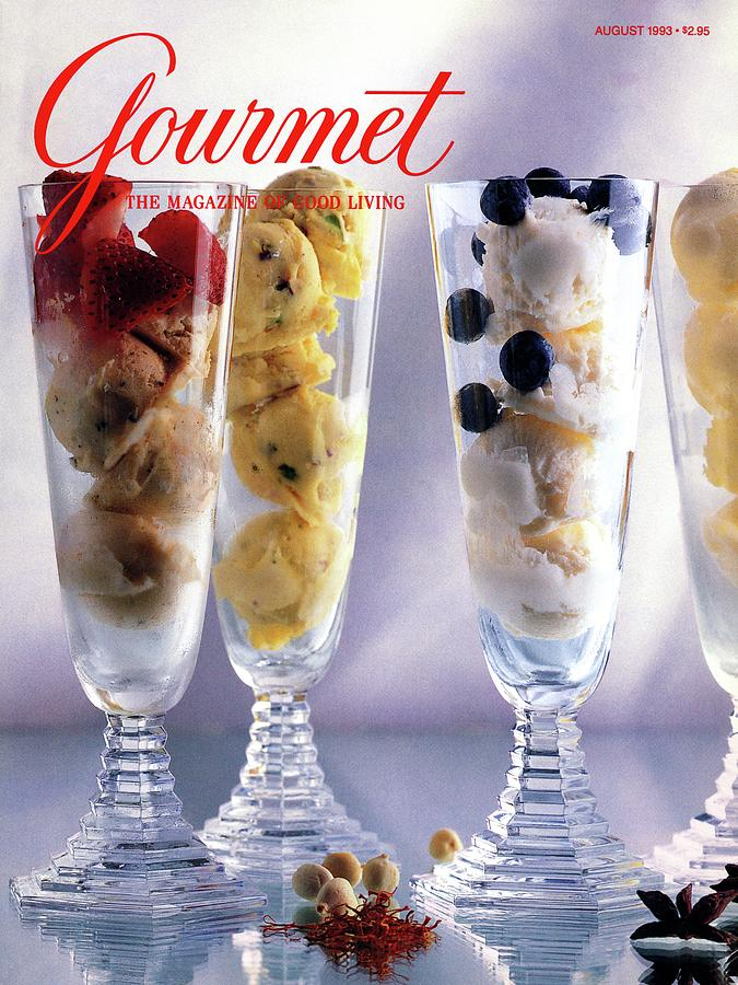Gourmet Magazine Cover Featuring Ice Cream Photograph by Romulo Yanes