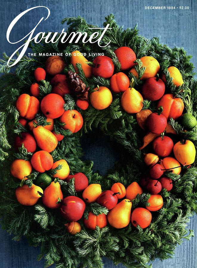 Gourmet Magazine Cover Featuring Marzipan Wreath Photograph by Romulo Yanes