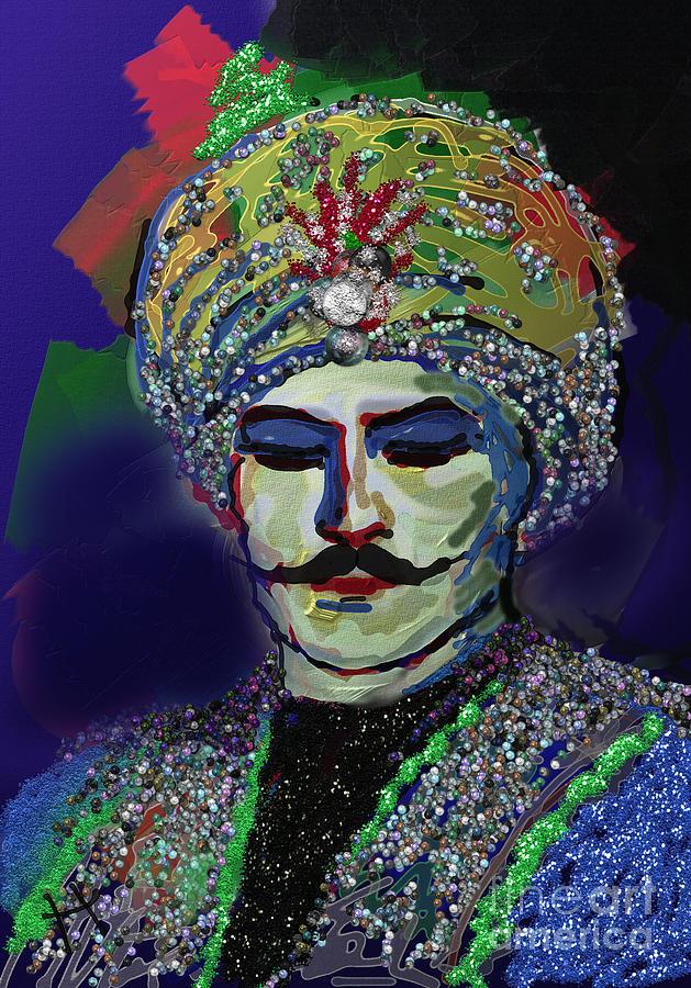 Figurative Digital Art - Governer With The Pearls by Hayrettin Karaerkek