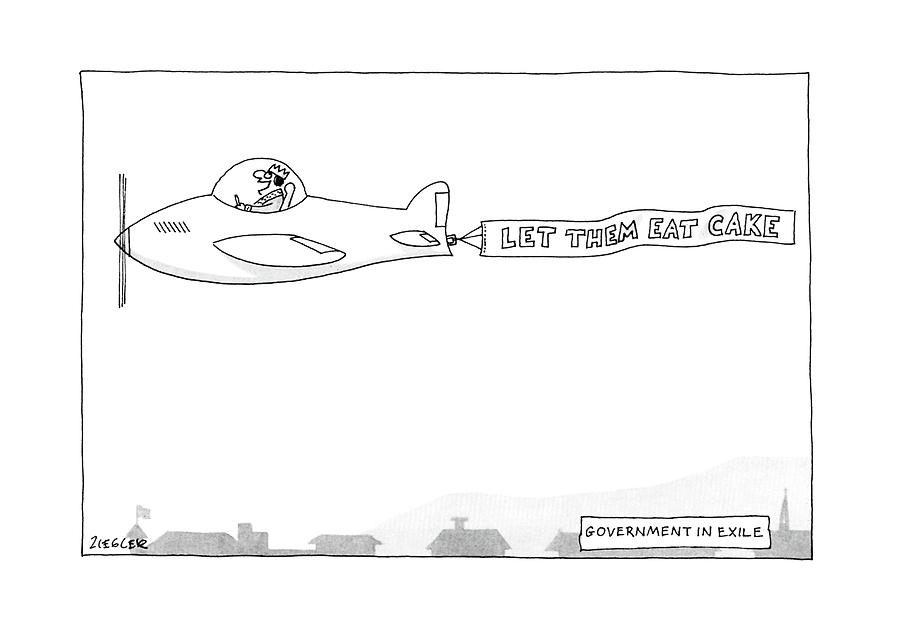 Government In Exile Drawing by Jack Ziegler